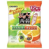 Combo 6 gói Thạch trái cây Orihiro vị Nho xanh & Cam 240gr