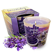 Ly nến thơm tinh dầu Bartek Lavender Fields & Soap 115g QT04965 - cánh đồng oải hương