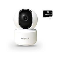 Camera VanTech WIFIV-2010AI-2.0MP - Hàng Chính Hãng (Tặng kèm thẻ nhớ 32Gb)