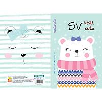 Tập sinh viên 200 trang Bear cute - kẻ ly ngang (lốc 5 quyển)