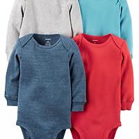 Bộ 4 áo liền quần tay dài Carter's bé trai