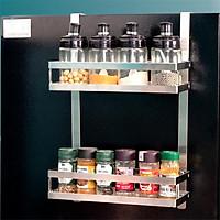 Kệ treo tủ lạnh đa năng FOODCOM chất liệu inox không han gỉ có keo 3M