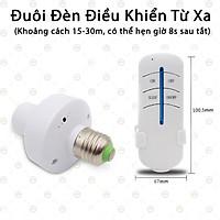 (Loại Tốt) Đuôi Đèn Điều Khiển Từ Xa - Tiện Lợi Khi Sử Dụng Ban Đêm Đi Ngủ Remote Kế Bên - KLM-DDDKTX-E27 (Màu Trắng)