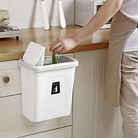 Thùng rác có nắp treo cửa tủ bếp tiện dụng - Giao màu ngẫu nhiên