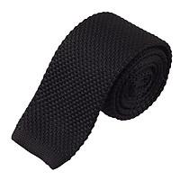 Luxury Men's Plain Woven Tie Necktie Solid Men Knitted Casual Formal Long