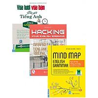 Combo Sách Hack Não Môn Tiếng Anh 1 (Vừa Lười Vừa Bận Vẫn Giỏi Tiếng Anh+Hacking Speaking English+Mind Map English Grammar) tặng kèm bookmark TH