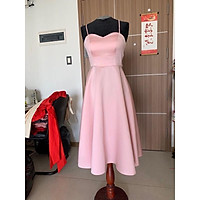 Đầm xoè dự tiệc 2 dây hơ lưng cột nơ siêu yêu TRIPBLE T DRESS - size M/L (kèm ảnh/video thật) MS107Y