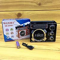 Đài Waxiba XB-204BT LOA SIÊU LỚN EXTRA BASS, USB NGHE NHẠC THẺ NHỚ BLUETOOTH  RADIO AM FM SW CÓ ĐÈN PIN THEO KÈM PIN SẠC HÀNG CHÍNH HÃNG