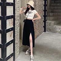 Chân váy dài XẺ 1 BÊN cá tính