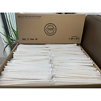 Ống hút giấy cao cấp Clean Paper Straw _ thùng 2500 ống có bọc giấy ( take away)