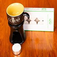 Combo đèn xông tinh dầu + nến ly coffee Lasante DN-11