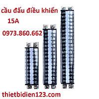 Cầu đấu chất lượng tốt 15A - TD1510, TD1520 , đế thanh rail nhôm, có kẹp 2 đầu chắc chắn