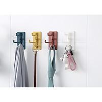 Móc dán tường đa năng treo chìa khóa, dây nịt, gọng kính, khăn, bông tắm,...- Combo 2 cái