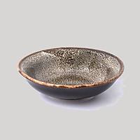 Đĩa muối men hoa gấm vàng - Đĩa gia vị gốm sứ cao cấp (Đường kính 9cm) - Gôm Sứ Cao Cấp Bát Tràng