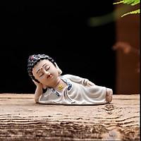 Tượng Phật Thích ca nằm niết bàn chữ vạn- áo trắng (tặng kèm bộ tượng tứ không)