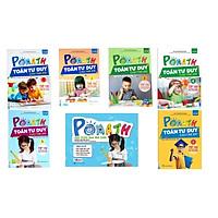 Combo Trọn Bộ sách POMath Toán tư duy cho trẻ em 4 đến 6 tuổi và  Bộ Học Liệu Kèm Sách POMath - Học Toán Qua Trò Chơi ( tặng kèm bút chì xinh xinh )
