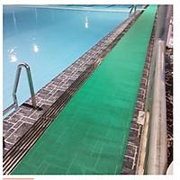 Thảm lưới nhựa chống trơn trượt khổ 90cm màu xanh lá cây sử dụng lót sàn xe, khu vực dầu mỡ, dễ trơn trượt, hồ bơi, toilet, sân ướt (Hàng Việt Nam)