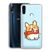 Ốp lưng dẻo cho điện thoại Zenfone Max Pro M2 - 01219 7869 DOG01 - Hàng Chính Hãng