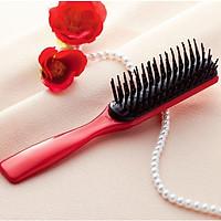 Lược chải tóc chống xơ rối, giảm gãy rụng (màu đỏ) - Hàng nội địa Nhật