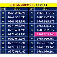 SIM SỐ ĐẸP MOBIFONE - LIST 14 (MBFDS14) - Số dễ nhớ, thần tài, lộc phát, số cặp, phong thủy - Chọn Số Theo Danh Sách - ĐĂNG KÝ ĐÚNG CHỦ ONLINE - Hàng Chính Hãng