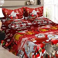 Bộ Đồ Giường 2 Vỏ Gối 1 Chăn 1 Ga Trải Giường Giáng Sinh
