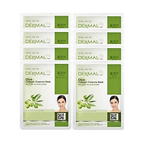 Mặt Nạ Dưỡng Chất Tinh Dầu Olive + Collagen Dermal - 8 Miếng