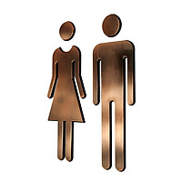 Man&Woman WC Decals Toilet Signs Restroom Washroom Signage Plaque