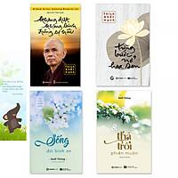Combo 4 cuốn sách Không Diệt Không Sinh Đừng Sợ Hãi, Từng Bước Nở Hoa Sen, Thả Trôi Phiền Muộn, Sống Đời Bình An (kèm bookmark danh ngôn hình voi)