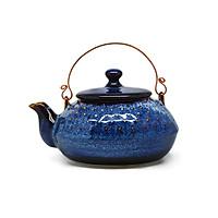 Ấm  trà chấm nhật  Đông Gia -xanh Sóng Biển 8094