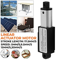 Mini 12V DC 17.5mm Linear Actuator Electric Linear Motor Auto Lift 30mm/s 15mm/s 9.5mm/s 5mm/s
