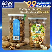 Mix 3 Hạt Dinh Dưỡng Smile Nuts Hộp 400g | Gồm Quả Óc Chó - Hạt Macca - Hạt Hạnh Nhân rang bơ
