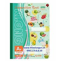 Sổ may dán gáy A4 - 420 trang; Klong 976 xanh lá