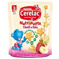 Bánh Ăn Dặm Nestlé CERELAC Nutripuffs Vị Chuối Dâu -...