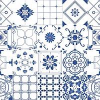 Set 48 Ô 15x15 Decal Gạch Bông 60x180cm - B13