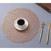 Combo 2 tấm lót bàn ăn hình tròn dập lỗ KT 38cm - LT03