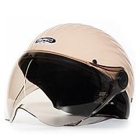 Mũ bảo hiểm nửa đầu có kính GRO ST03K dáng vỏ sò thời trang đẹp cho nữ