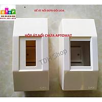 Hộp át cài nổi đơn, nổi đôi, vỏ át Lioa hộp chứa aptomat - Hàng chính hãng