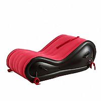 Ghế hơi tình yêu tặng kèm bơm điện 2 chiều - Màu đỏ - Hàng Nhập Khẩu