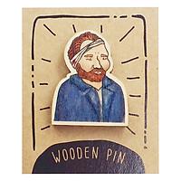 Huy Hiệu Cài Áo Gỗ Van Gogh PS017