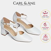 Giày cao gót Erosska thời trang bít mũi gót vuông phối dây quai mảnh đơn giản cao 5cm CL006