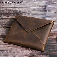 Bao Da Thật, Cặp Da, Túi đựng CONTACT'S FAMILY dành cho Laptop 13inch / 16inch / Macbook / Dell XPS / Surface