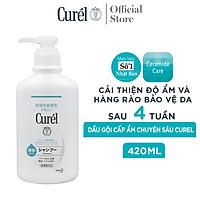 Dầu Gội Cấp Ẩm Chuyên Sâu Curel Intensive Moisture Care Shampoo 420ml