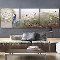 Tranh Phù Điêu Đất Sét Trắng - Công Thành Danh Toại 03 - 80X80 cm