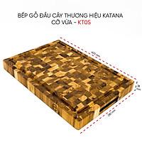 Thớt gỗ Teak đầu cây cao cấp KATANA cỡ vừa - KT05