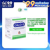 TPCN Viên uống CALCI-D giúp bổ sung canxi và vitamin D3,hỗ trợ phòng ngừa loãng xương,phát triển chiều cao-hộp 100 viên