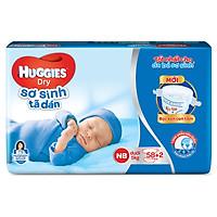 Tã Dán Sơ Sinh Huggies Dry Newborn (58 Miếng +...