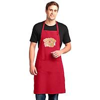 Tạp Dề Làm Bếp In Hình Cute Teddy Bear- Hàng Cao Cấp Chính Hãng