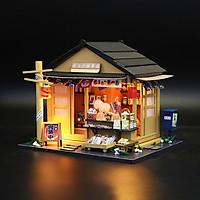 Mô hình nhà DIY Doll House Memory Of Autumn Grocery Store Kèm Mica Chống bụi và Dụng cụ lắp ráp