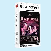 Hộp ảnh Postcard Blackpink How you like that màu ĐEN HỒNG 200M bộ ảnh có ảnh dán sticker lomo bưu thiếp