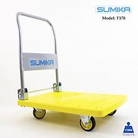 Xe đẩy hàng sàn nhựa SUMIKA T170 - Khung thép, tay cầm gấp mở tiện lợi, tải trọng 170kg